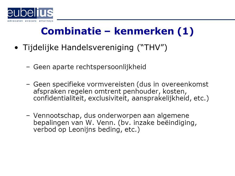 Combinatie – kenmerken (1)