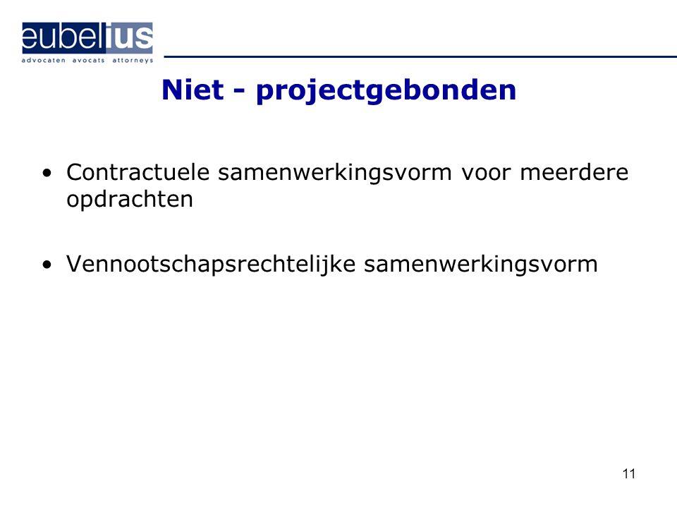 Niet - projectgebonden