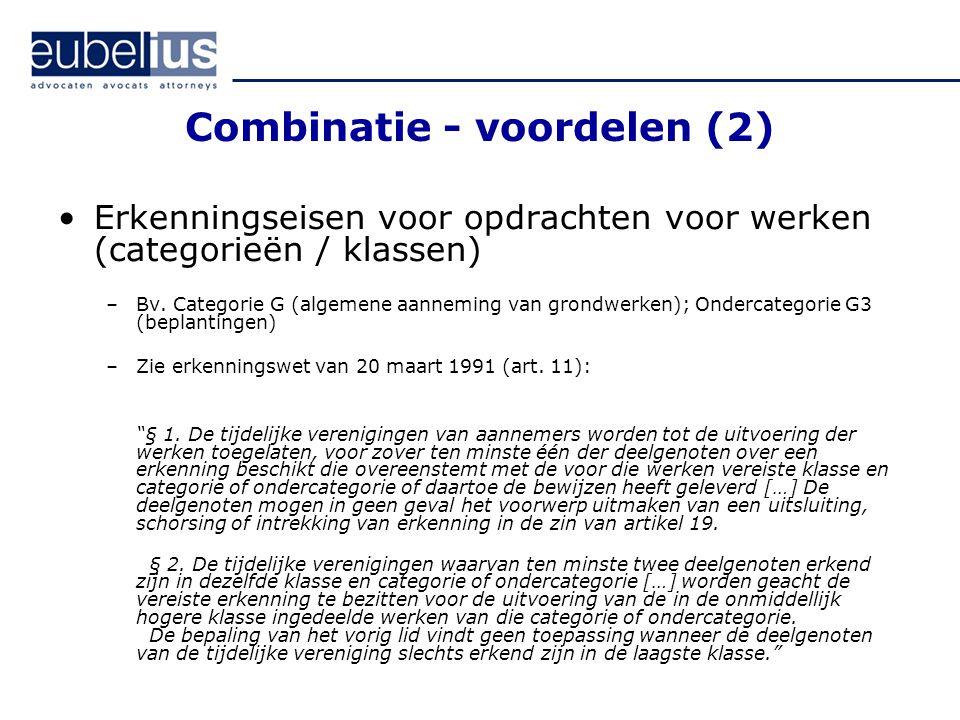 Combinatie - voordelen (2)