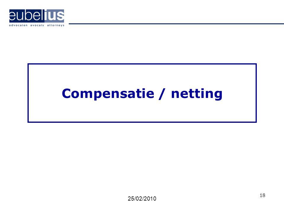 Compensatie / netting 18