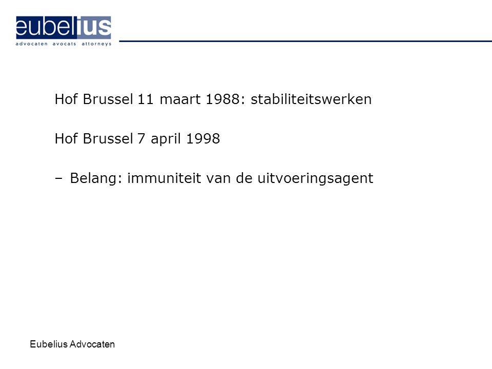 Hof Brussel 11 maart 1988: stabiliteitswerken Hof Brussel 7 april 1998