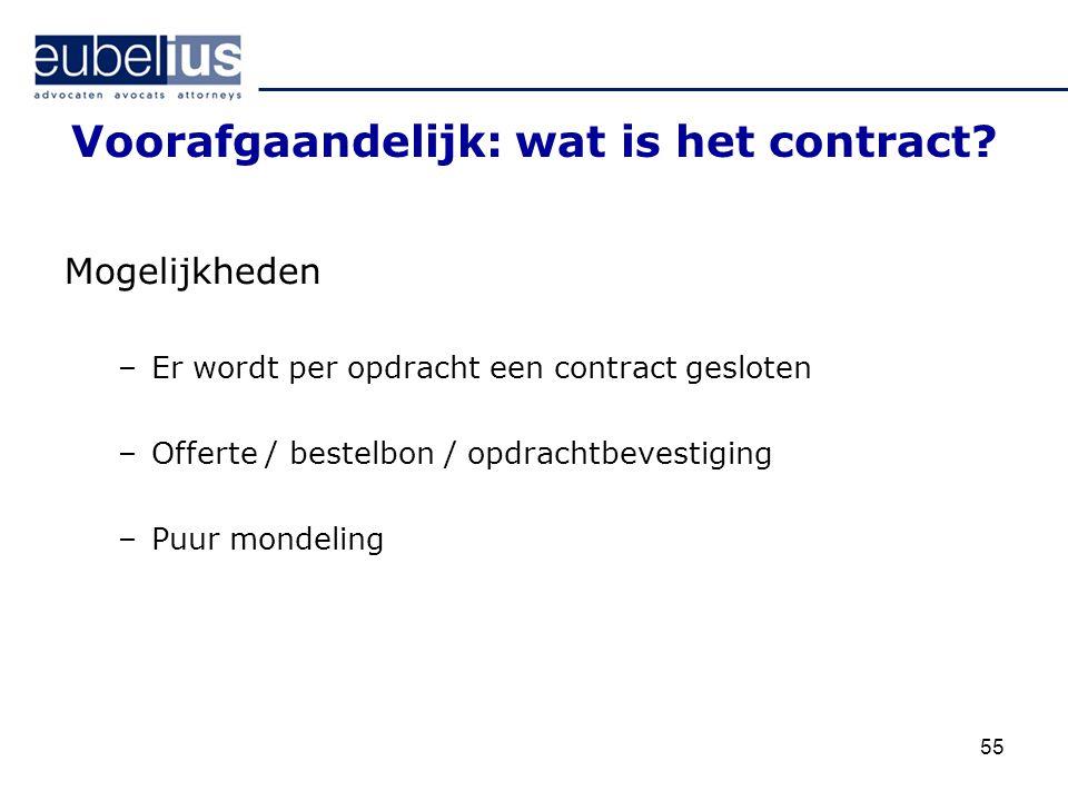 Voorafgaandelijk: wat is het contract