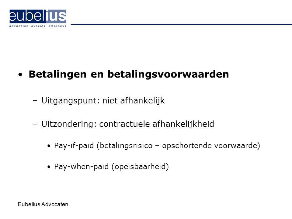 Betalingen en betalingsvoorwaarden