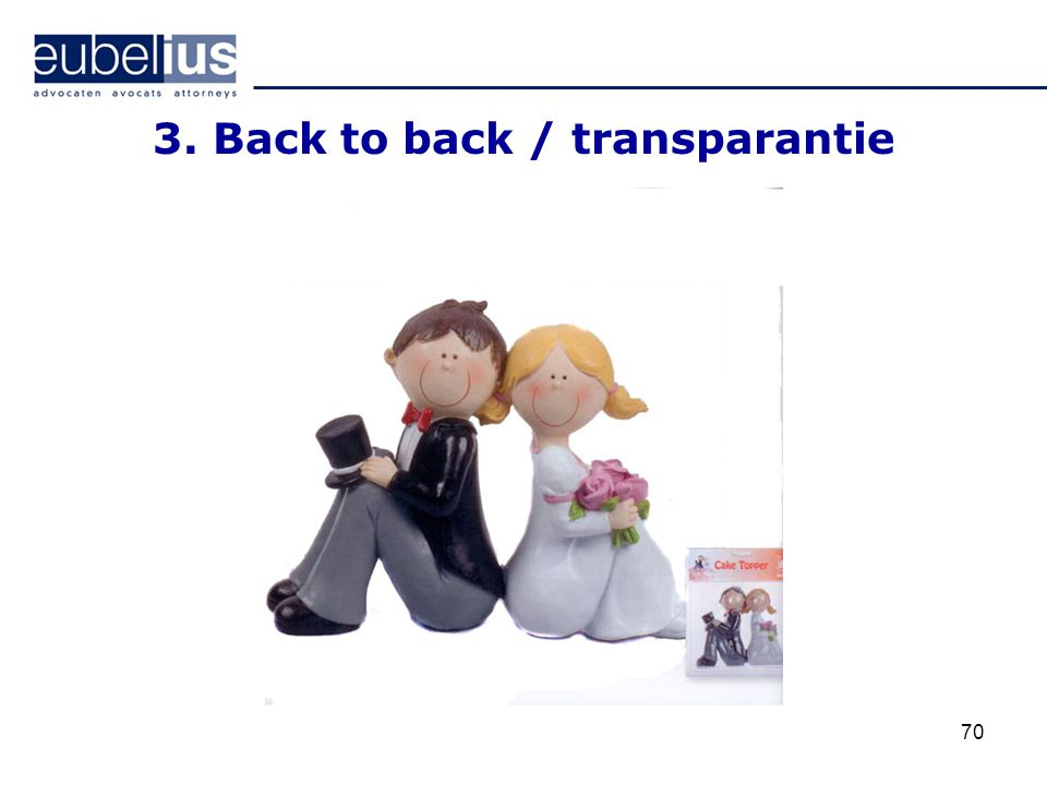 3. Back to back / transparantie