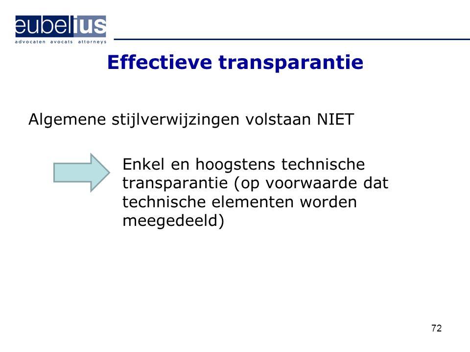 Effectieve transparantie