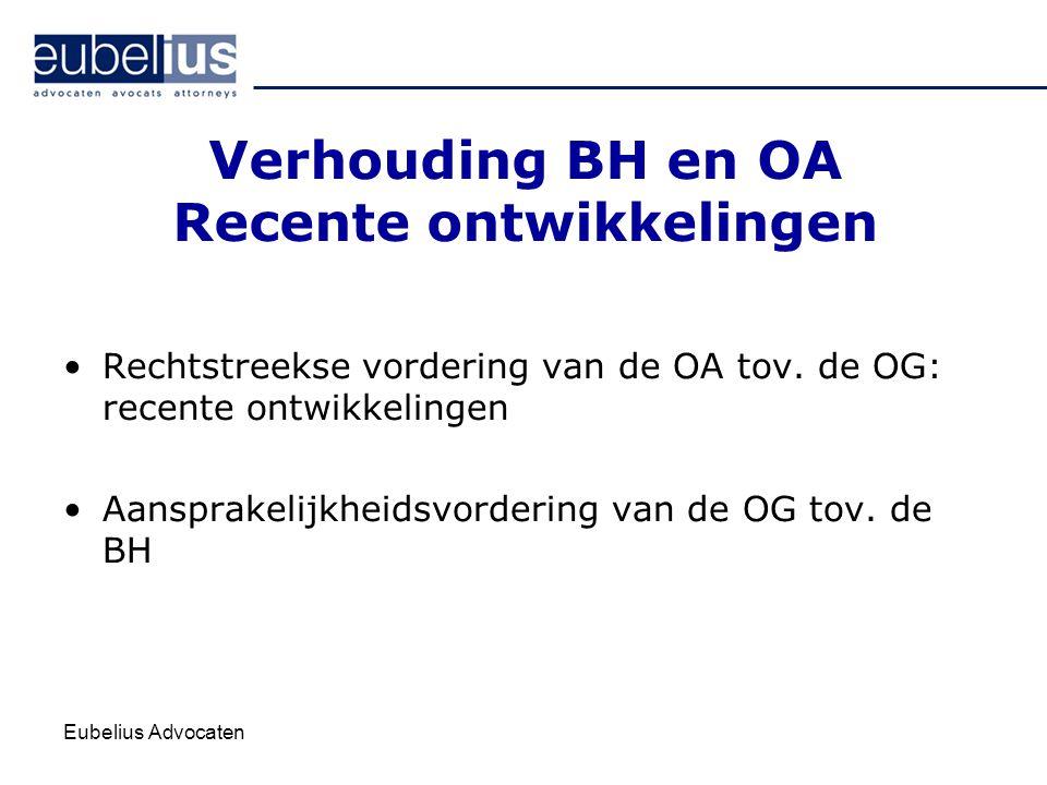 Verhouding BH en OA Recente ontwikkelingen