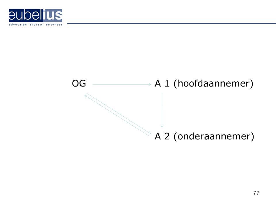 OG A 1 (hoofdaannemer) A 2 (onderaannemer)