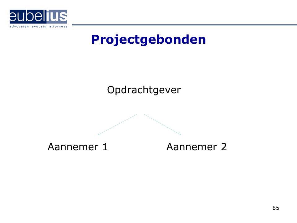 Projectgebonden Opdrachtgever Aannemer 1 Aannemer 2