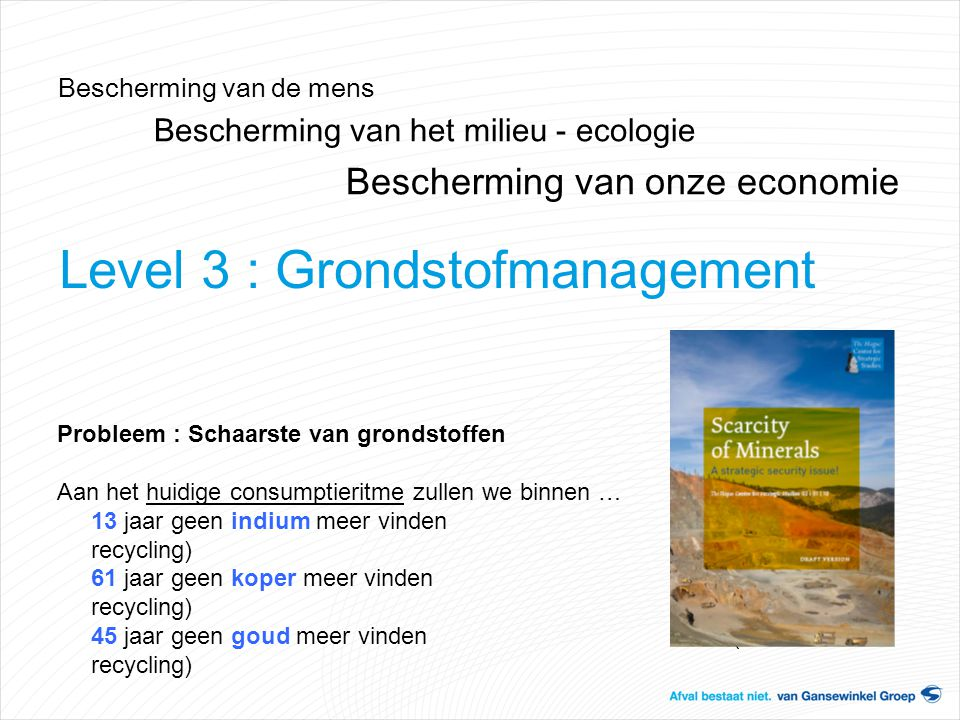 Level 3 : Grondstofmanagement