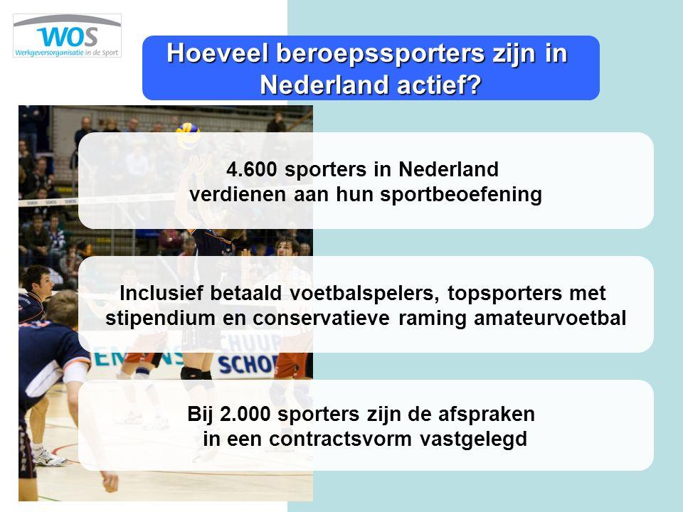 Hoeveel beroepssporters zijn in Nederland actief