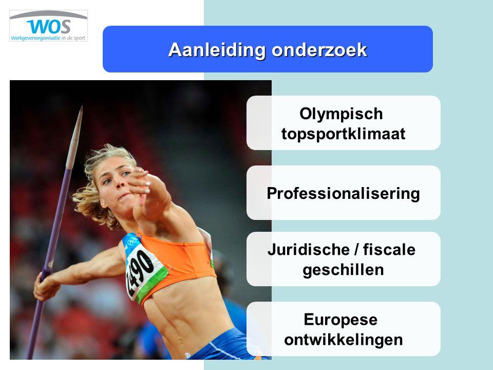 Aanleiding onderzoek Olympisch topsportklimaat Professionalisering