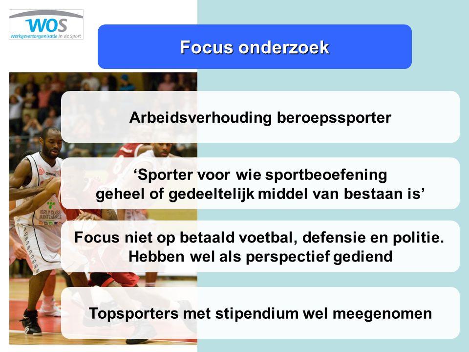 Focus onderzoek Arbeidsverhouding beroepssporter