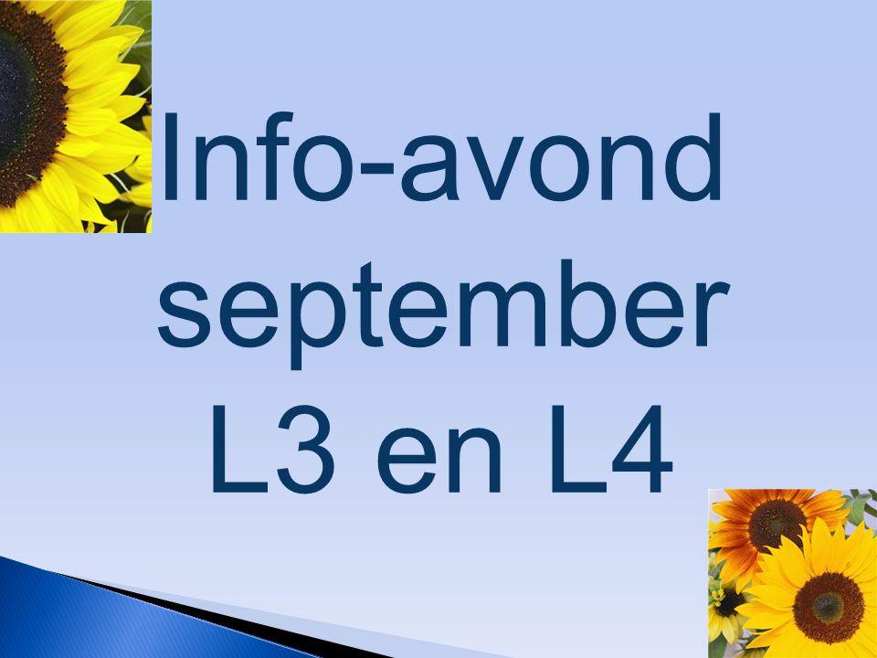 Info-avond september L3 en L4
