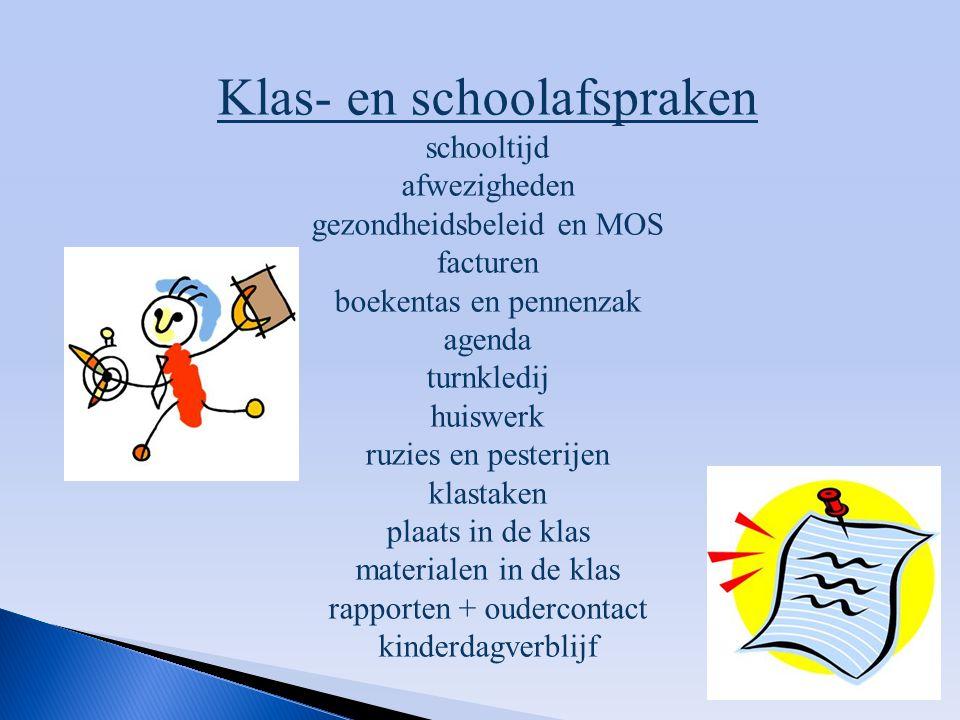 Klas- en schoolafspraken