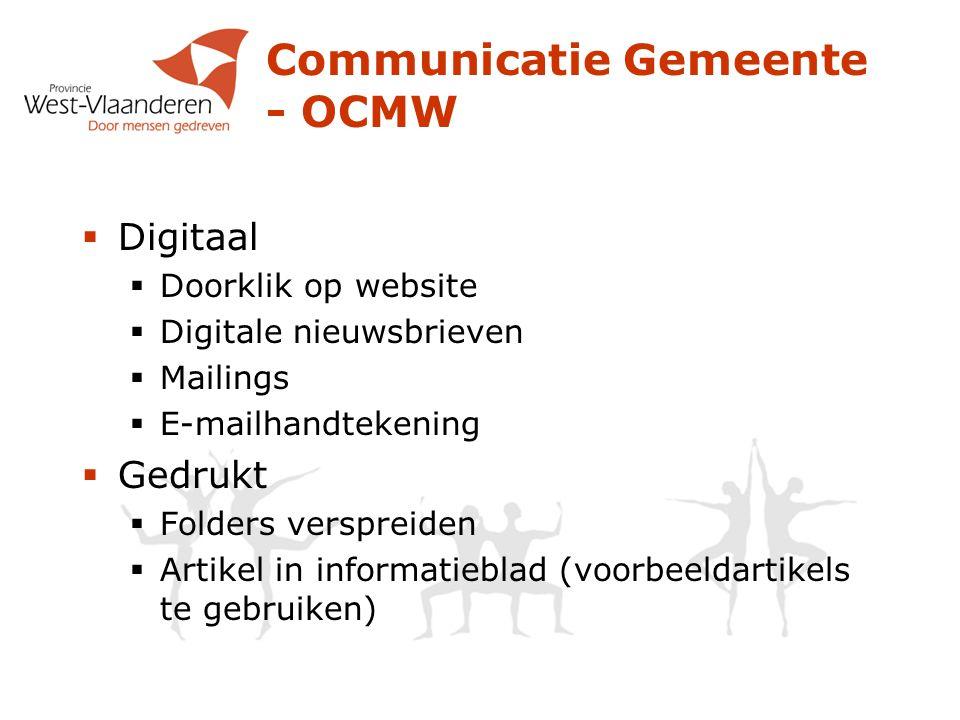 Communicatie Gemeente - OCMW