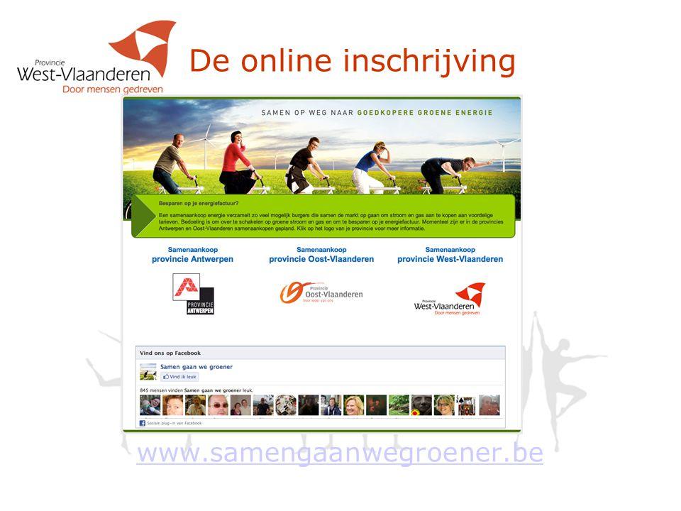 De online inschrijving
