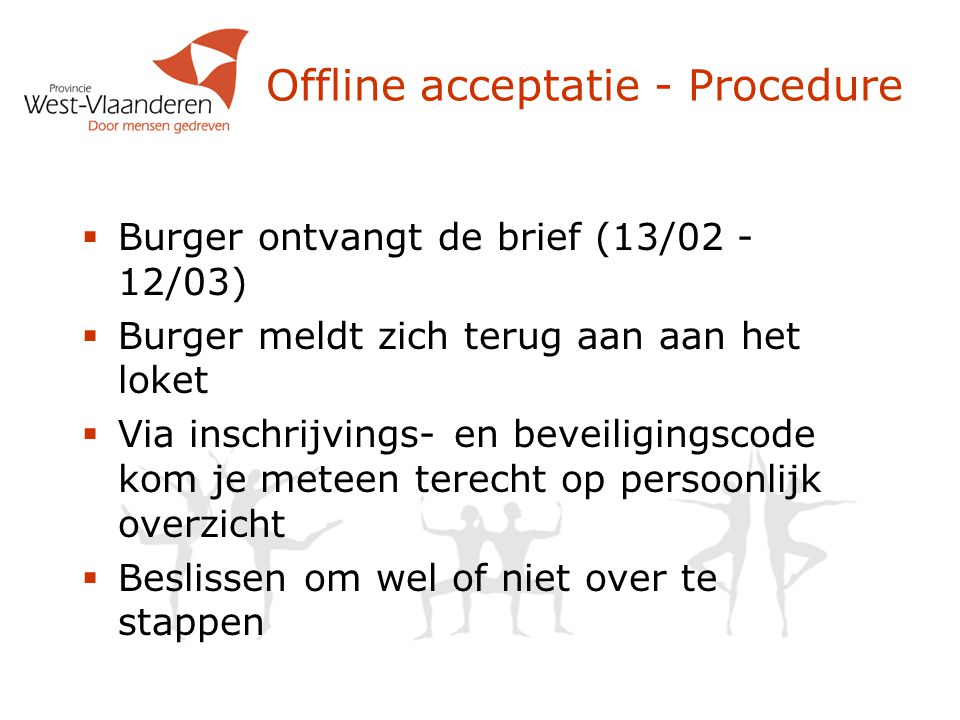 Offline acceptatie - Procedure