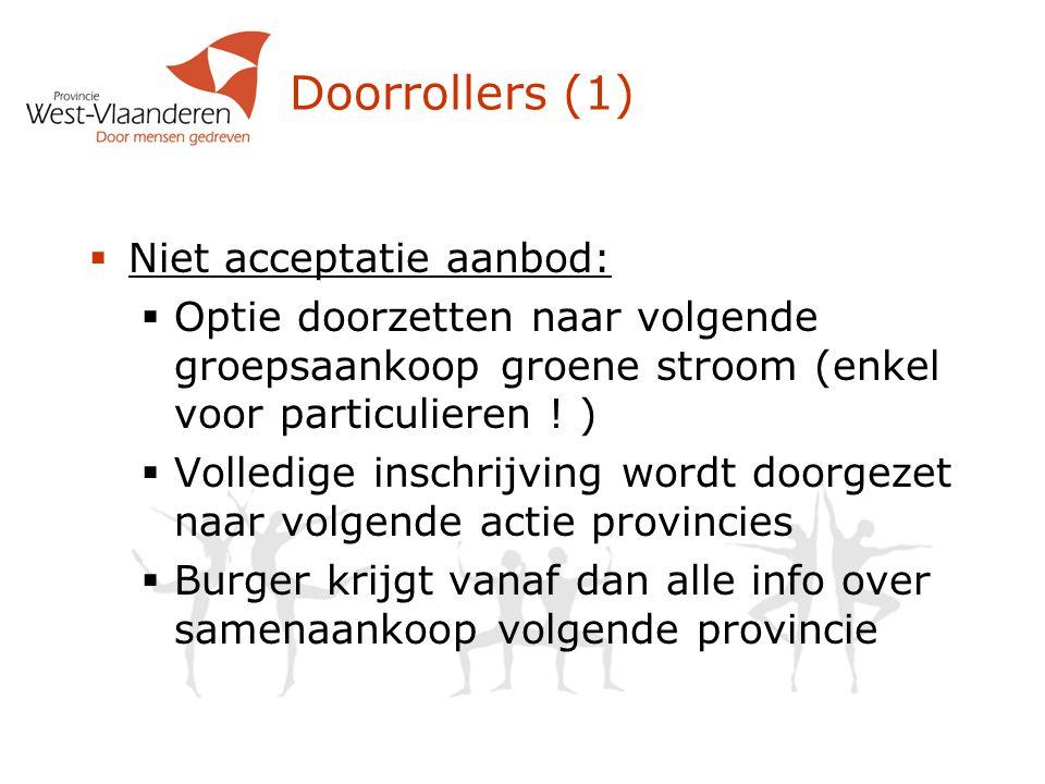 Doorrollers (1) Niet acceptatie aanbod: