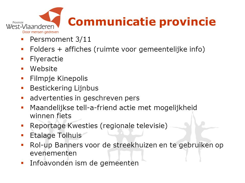 Communicatie provincie