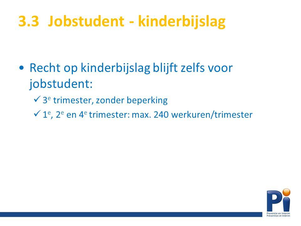 3.3 Jobstudent - kinderbijslag