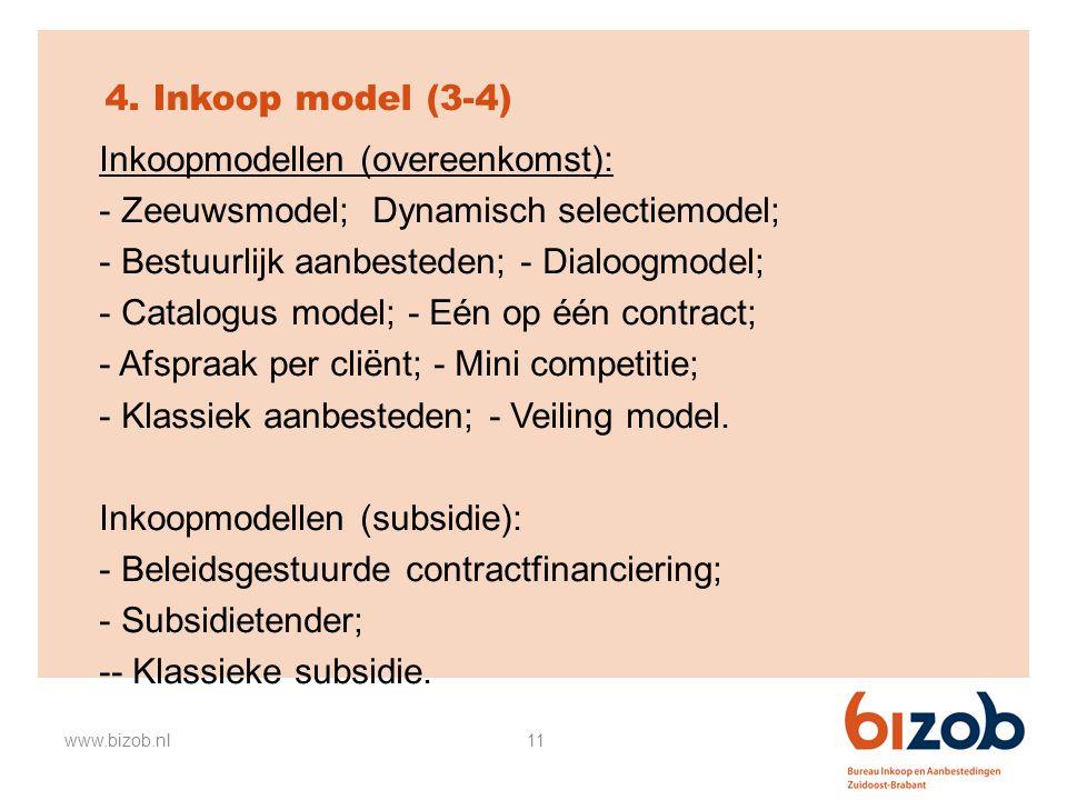 Inkoopmodellen (overeenkomst): Zeeuwsmodel; Dynamisch selectiemodel;