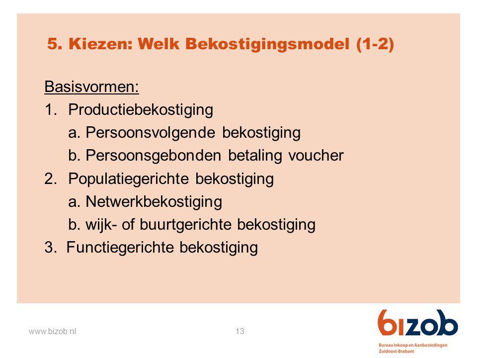 5. Kiezen: Welk Bekostigingsmodel (1-2)