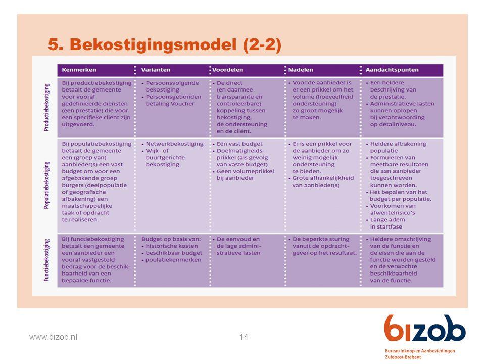 5. Bekostigingsmodel (2-2)