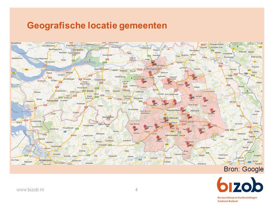 Geografische locatie gemeenten