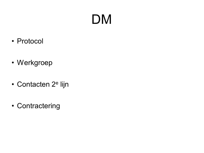 DM Protocol Werkgroep Contacten 2e lijn Contractering