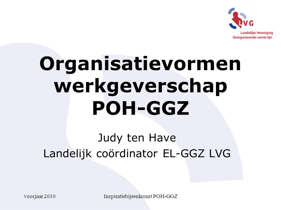 Organisatievormen werkgeverschap POH-GGZ