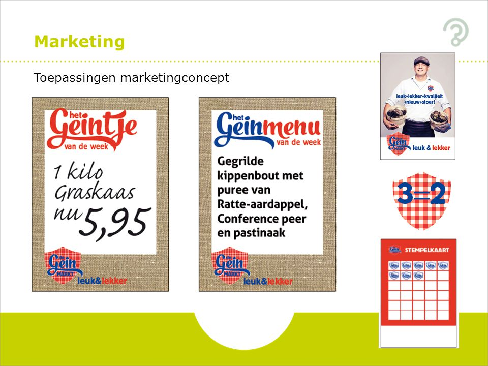 Marketing Toepassingen marketingconcept