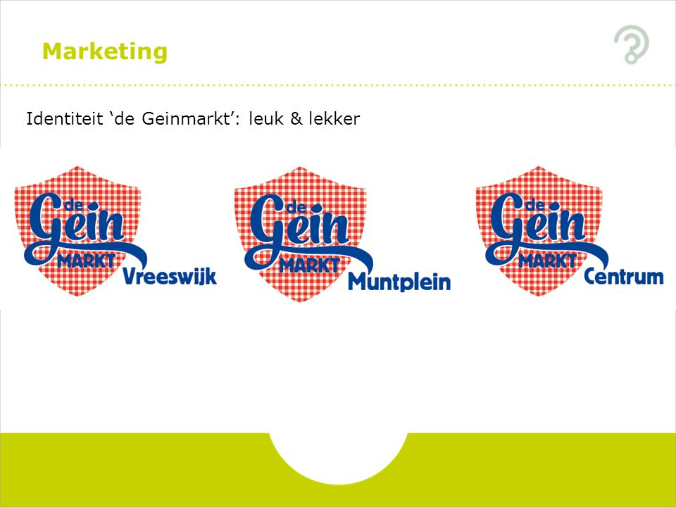 Marketing Identiteit 'de Geinmarkt': leuk & lekker