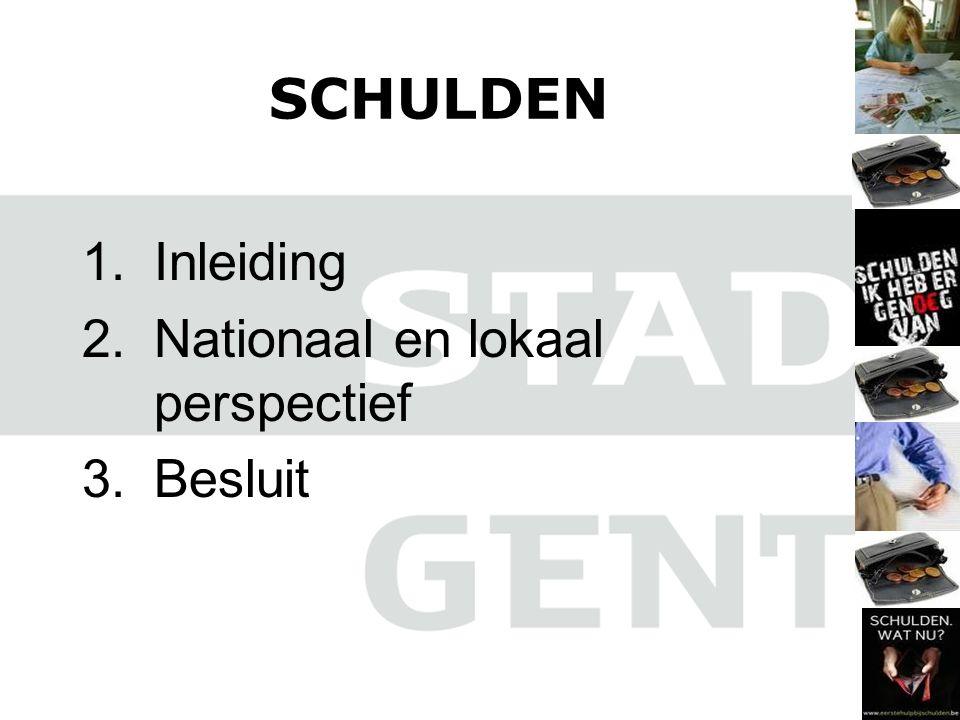 SCHULDEN Inleiding Nationaal en lokaal perspectief Besluit