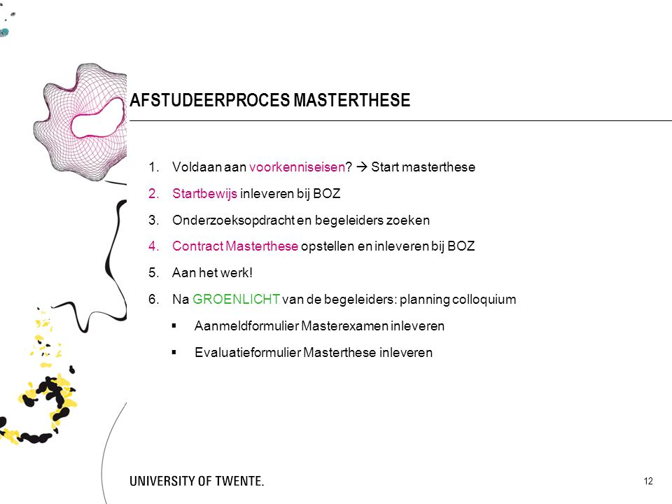 AFSTUDEERPROCES MASTERTHESE