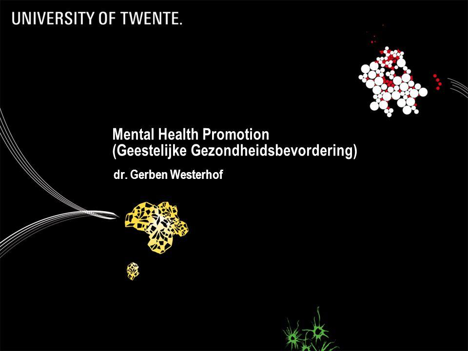 Mental Health Promotion (Geestelijke Gezondheidsbevordering)