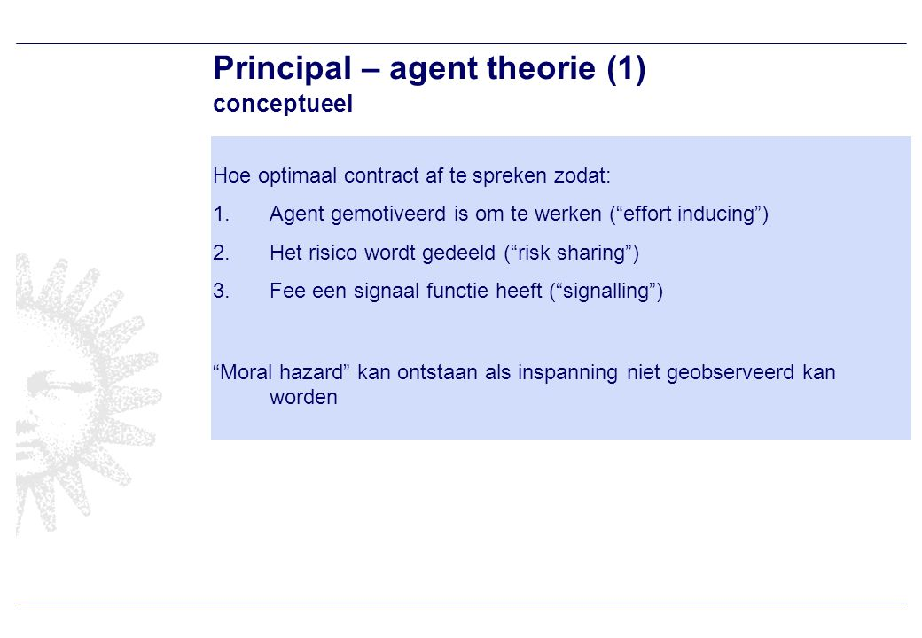 Principal - agent theorie (2) model