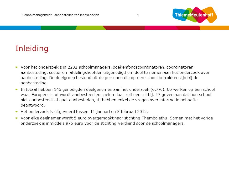 MIC 2011 Schoolmanagement - aanbesteden van leermiddelen 4. Inleiding.