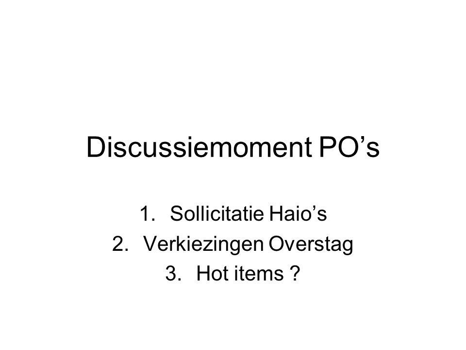 Sollicitatie Haio's Verkiezingen Overstag Hot items
