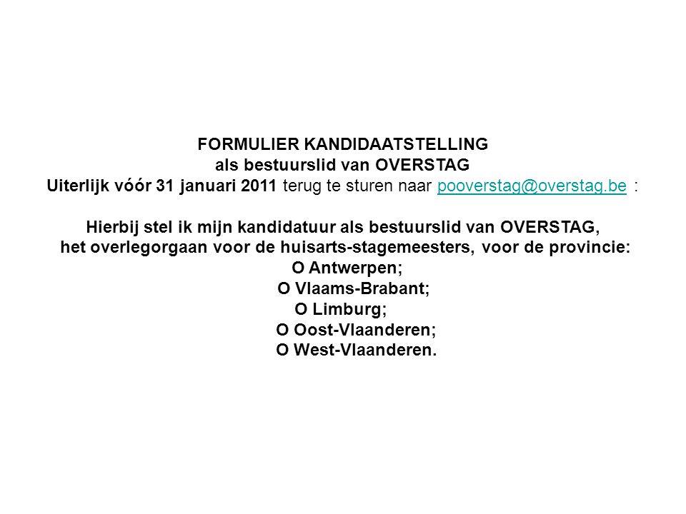 FORMULIER KANDIDAATSTELLING als bestuurslid van OVERSTAG