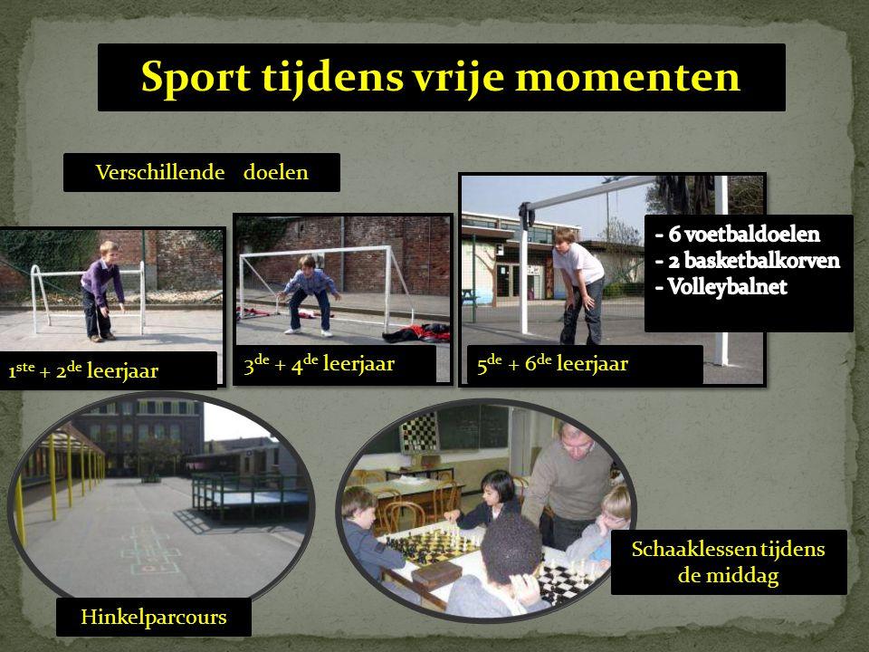 Sport tijdens vrije momenten