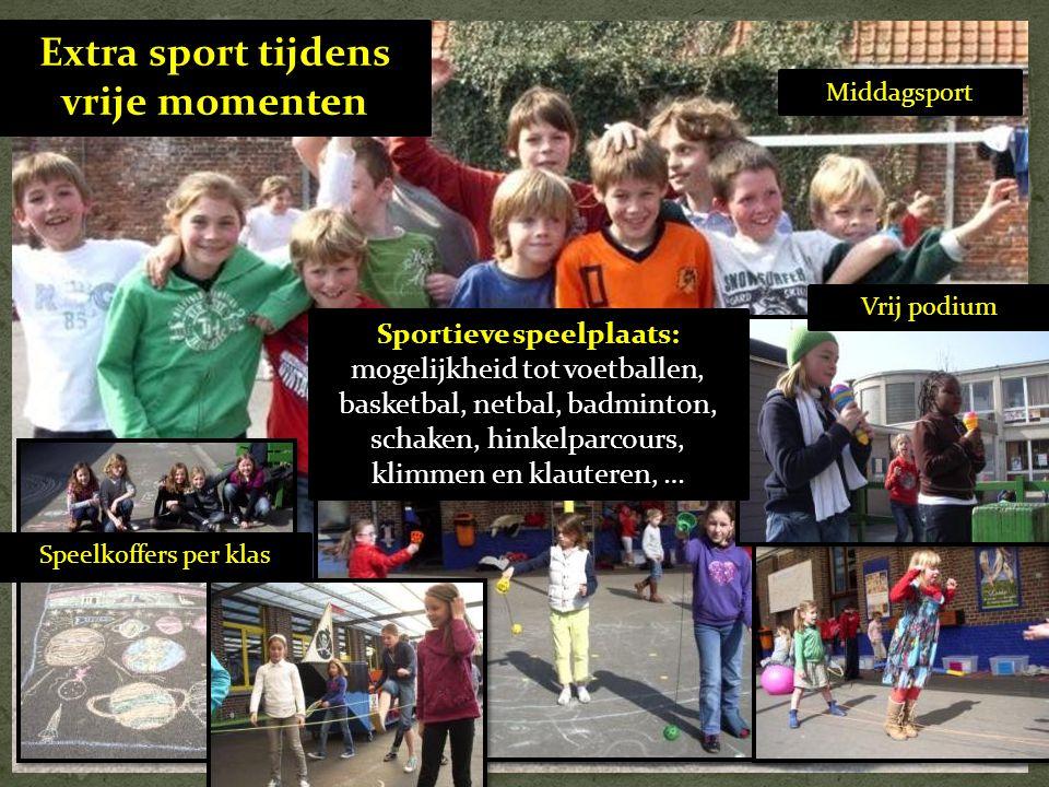 Extra sport tijdens vrije momenten