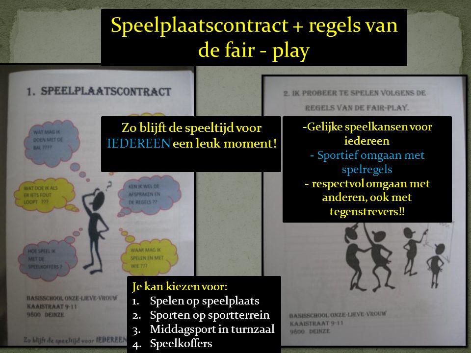 Speelplaatscontract + regels van de fair - play