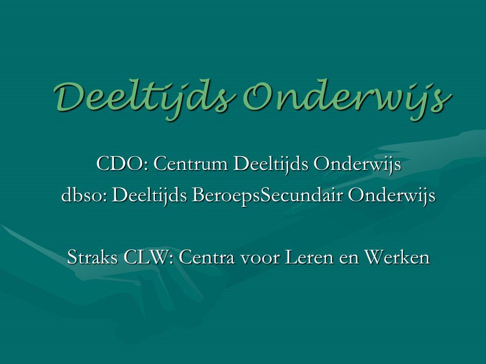 Deeltijds Onderwijs CDO: Centrum Deeltijds Onderwijs