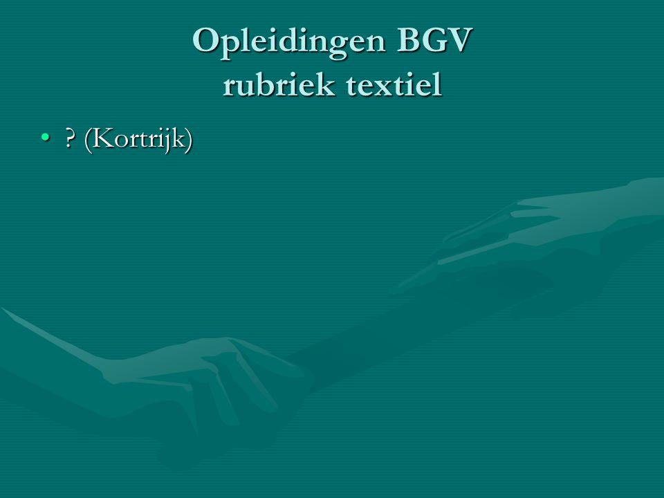 Opleidingen BGV rubriek textiel