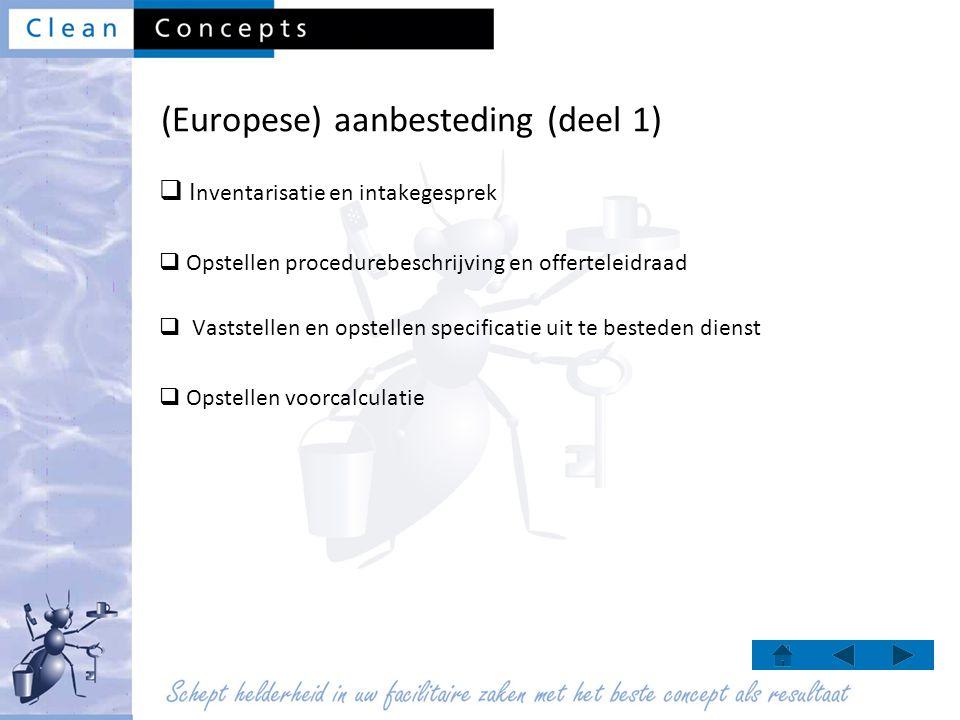 (Europese) aanbesteding (deel 1)