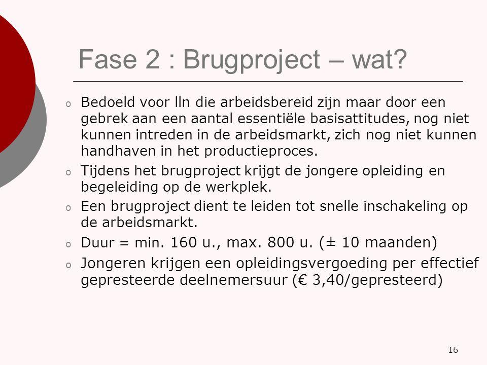 Fase 2 : Brugproject – wat