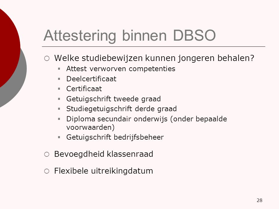 Attestering binnen DBSO