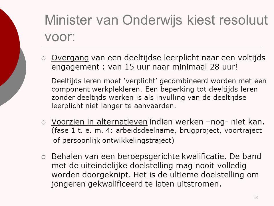 Minister van Onderwijs kiest resoluut voor: