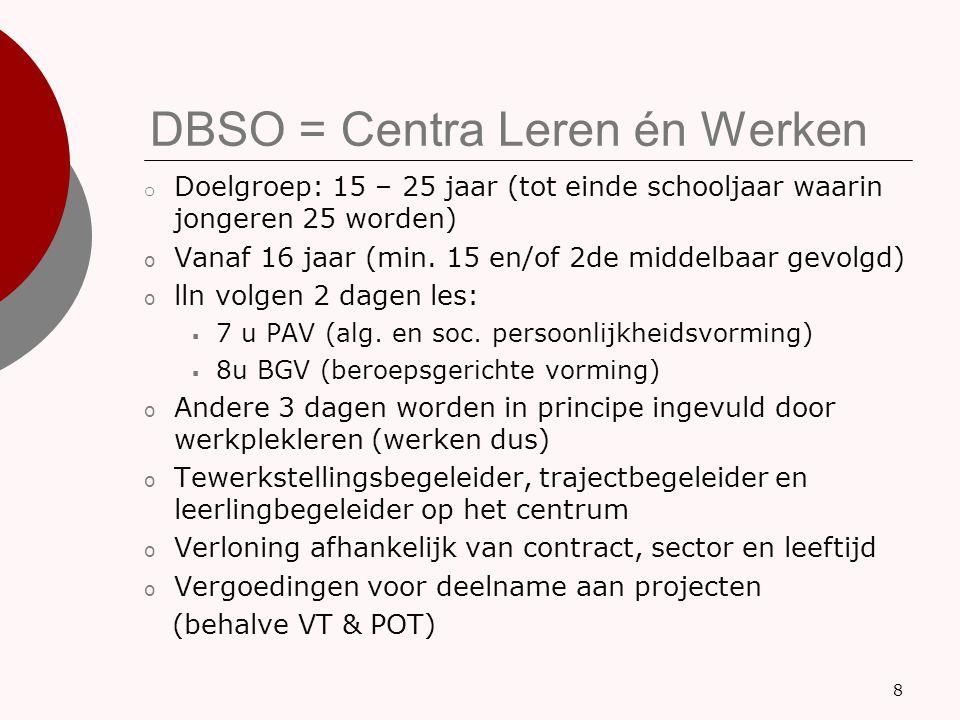 DBSO = Centra Leren én Werken