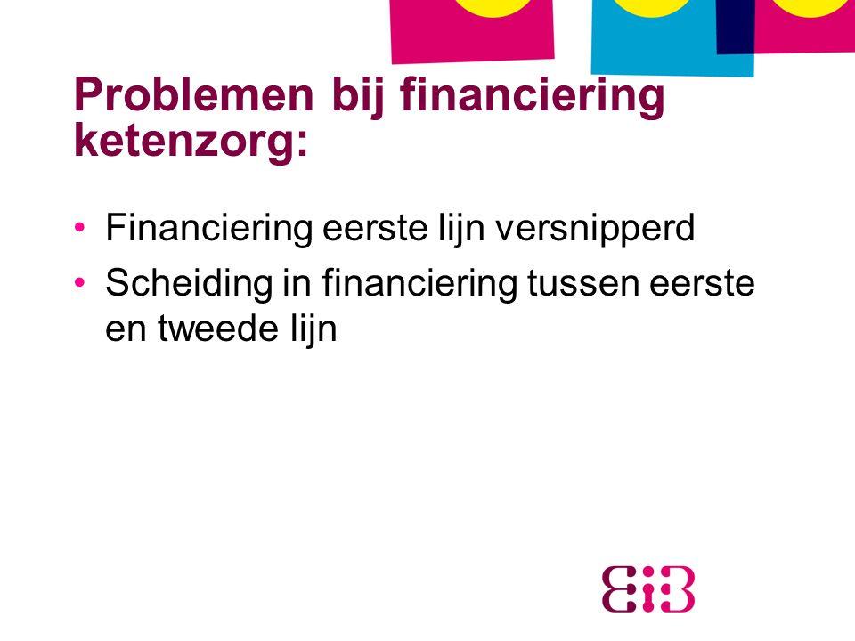 Problemen bij financiering ketenzorg: